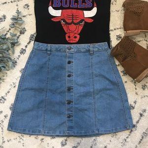 Dresses & Skirts - G:21 | Button Front Denim Skirt | Large